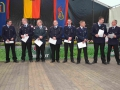 Die beförderten Feuerwehrmänner